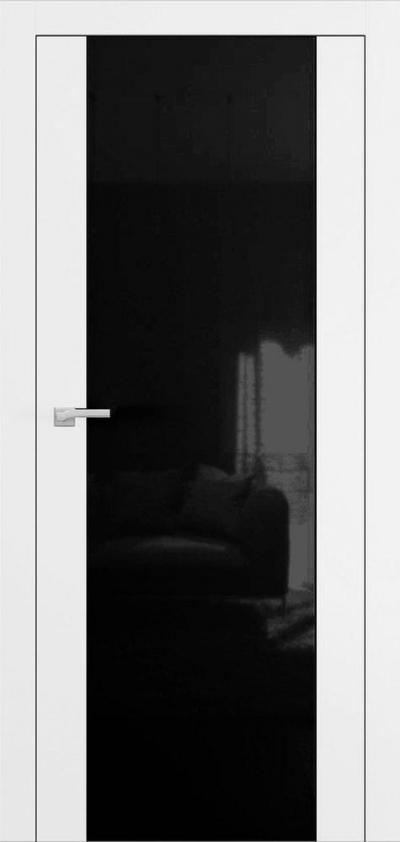 Двери Омега Art Vision А4 Стекло черное