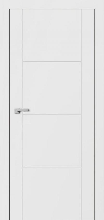 Двери Омега Lines F2 Белый мат