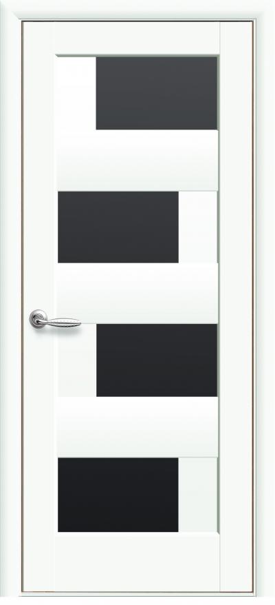 Новый стиль сиена белый мат черное стекло