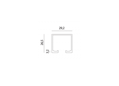 направляющая 1162 l-1.8 б/п т5 МВМ  Фурнитура для дверей