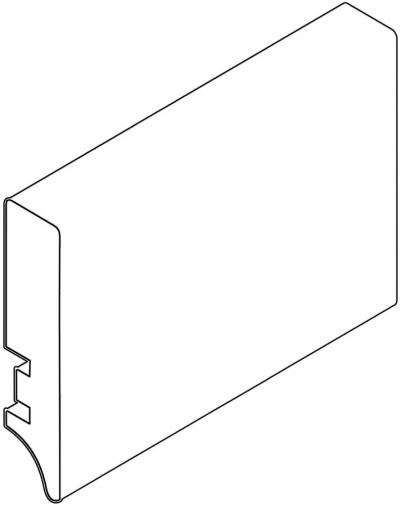 новый стиль прямоугольный мдф белый мат плинтус