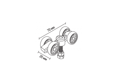 ролики sd-100 МВМ  Фурнитура для дверей