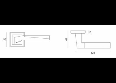 ручка sn/ср z-1319 МВМ  Фурнитура для дверей