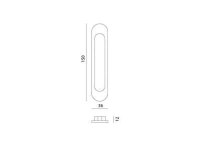 ручка врезная sdh-1 МВМ  Фурнитура для дверей