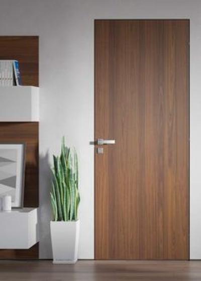 Скрытые двери шпонированные Орех