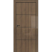 Двери Омега Galaxy Metalbox глянец Milano walnut WD 627