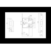 комплект a-2002 wc МВМ  Фурнитура для дверей