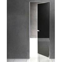 Скрытые двери с черным стеклом