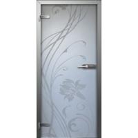 Стеклянные двери Лилия