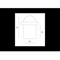 упор дверной m-38l МВМ  Фурнитура для дверей