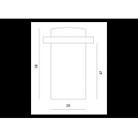 упор дверной m-47 МВМ  Фурнитура для дверей